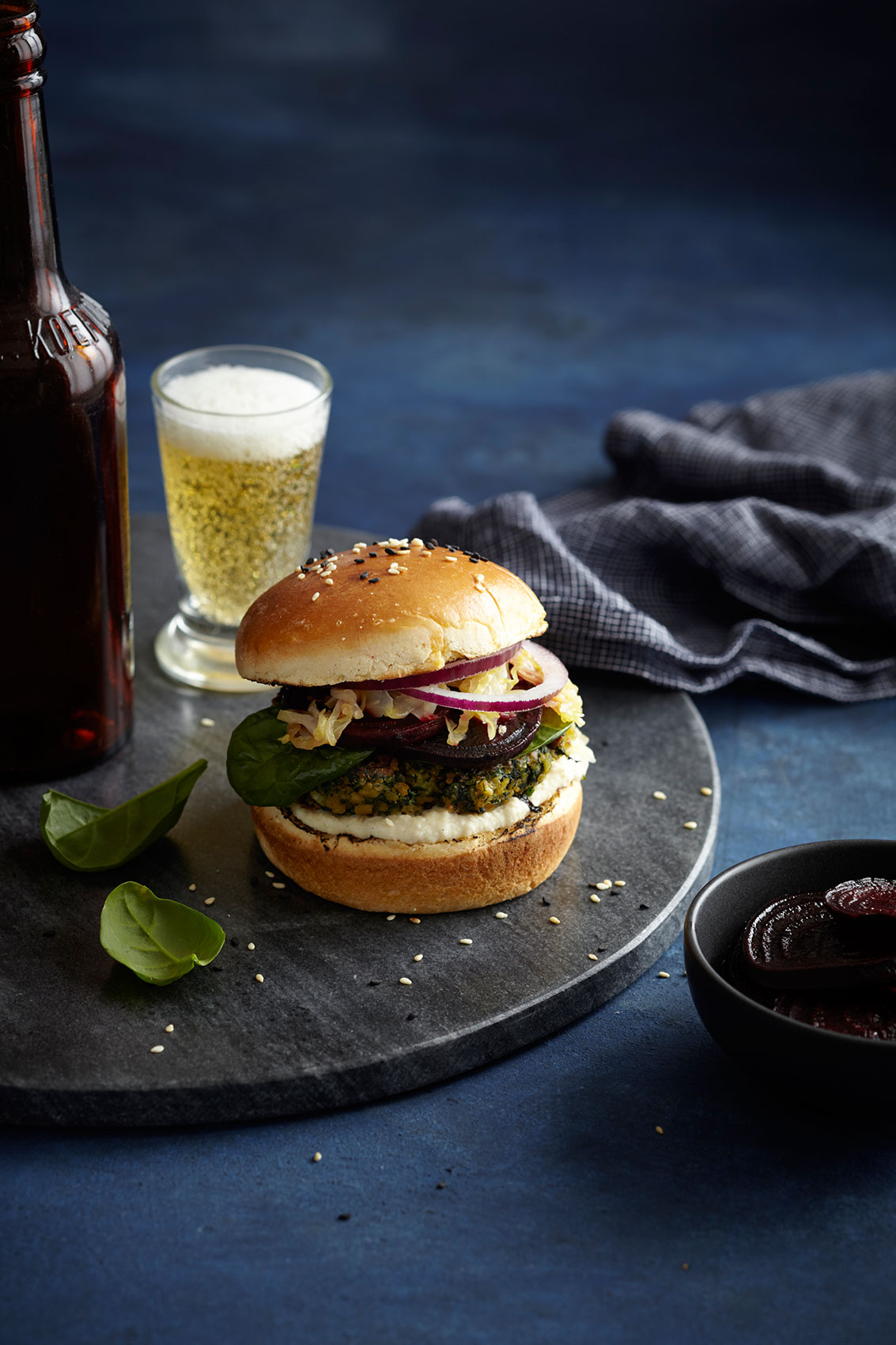 Vege Burger & Beer – Cookbook & Advertising Food Photography