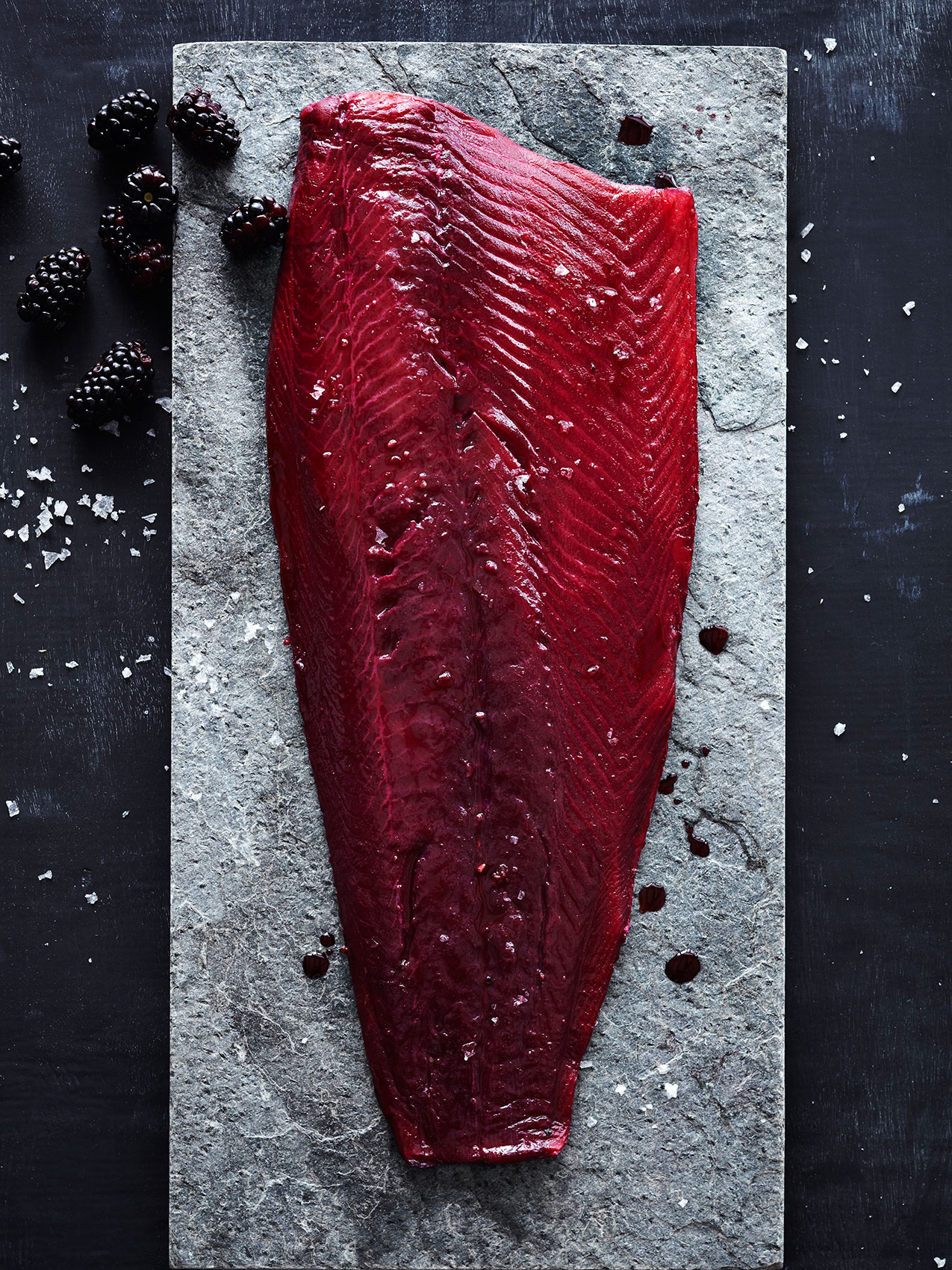 Blueberry Cured Gravlax – Magazine & Cookbook Food Photography